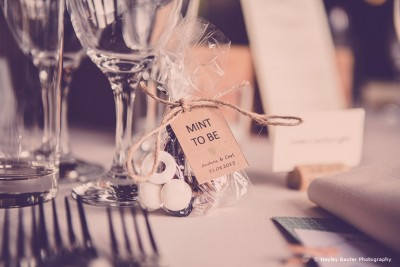 Mint Wedding Favours