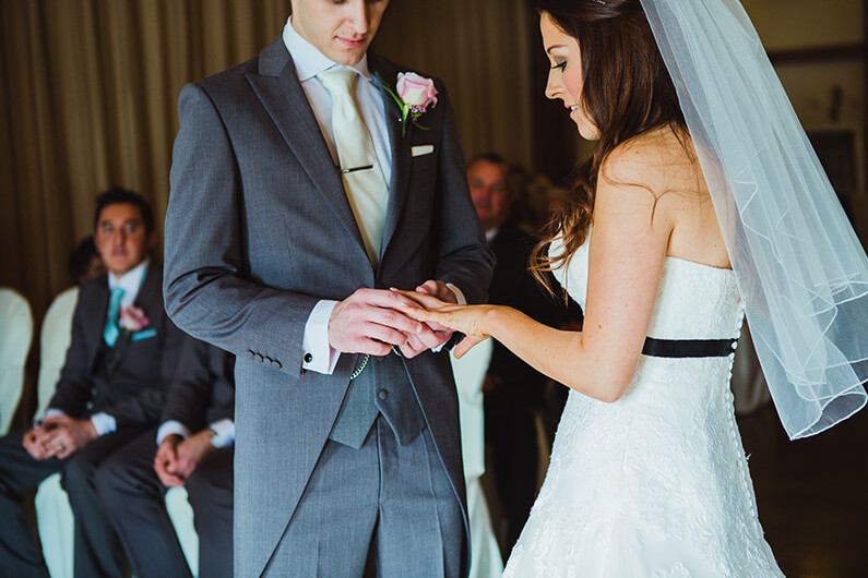 Exchanging rings in the civil ceremony