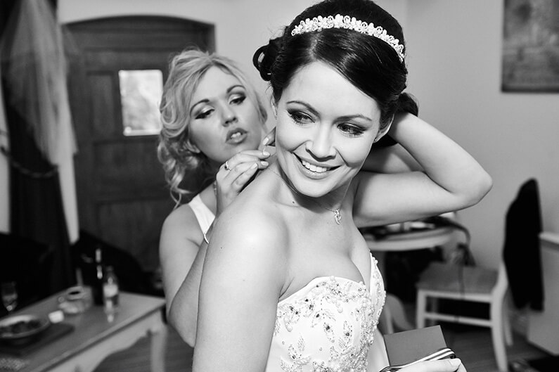 Getting ready for her big day at Sandhole Oak Barn