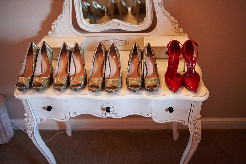 The bridal party shoes for the big day