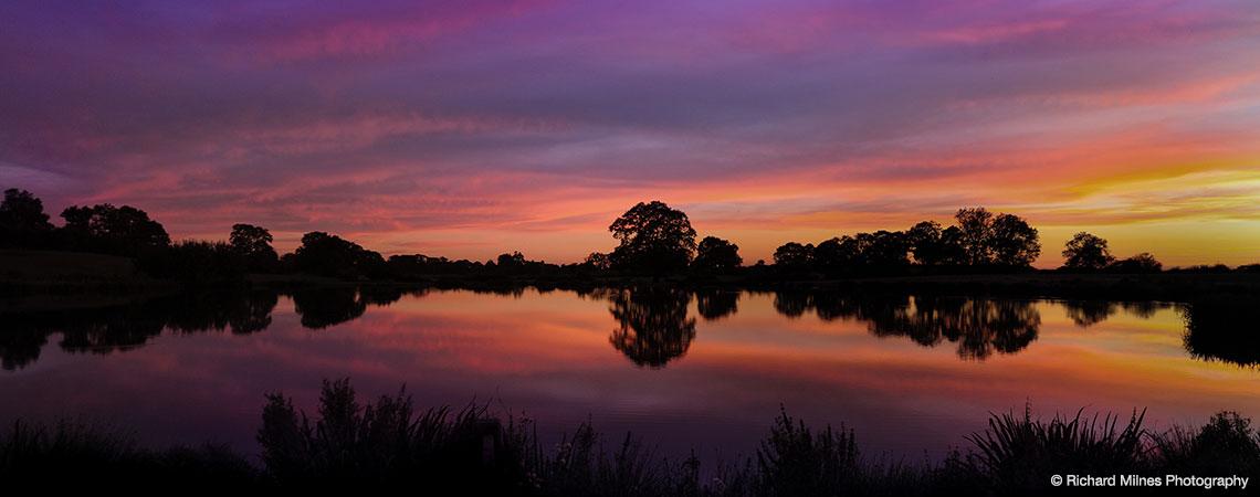 Red Sunset At Sandhole Oak Barns