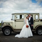 Tracy and Alex Wedding Car © Just Jenna Photography
