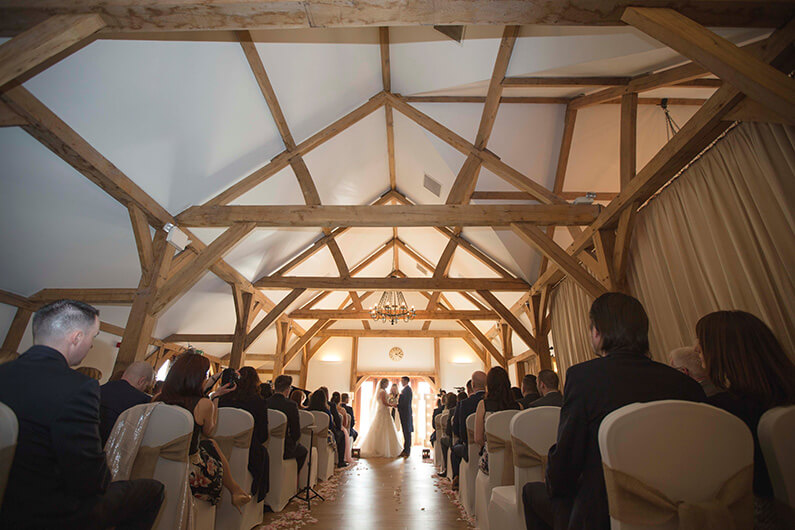 Micaela and Garry's civil ceremony in the barn