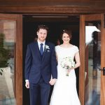 Just married at Sandhole Oak Barn in Cheshire