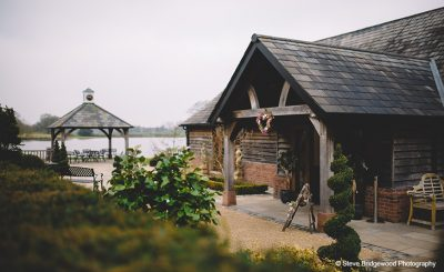 This rustic wedding barn is the perfect choice for a winter wedding