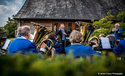 Entertain guests with a wedding band at your rustic barn wedding