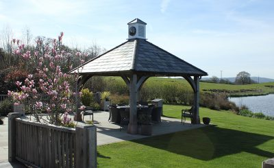 The Clock Tower at Sandhole Oak Barn is the perfect space for your outdoor wedding ceremony – spring weddings