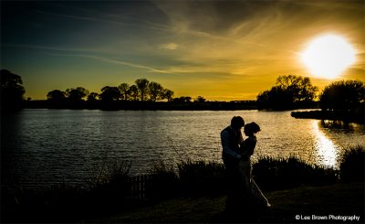 Enjoy the sunset at this magical barn wedding venue in Cheshire