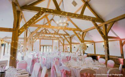 Stylish pink summer wedding theme and wedding decorations
