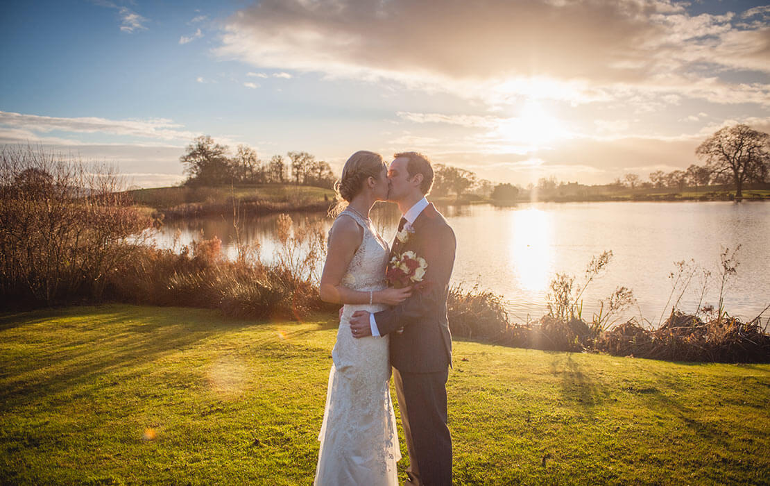 Kirsty and Richard's real life wedding at Sandhole Oak Barn