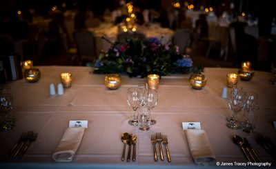 Candles provide romantic lighting to your wedding decorations