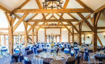 The barn's neutral décor suits all wedding themes and wedding colours