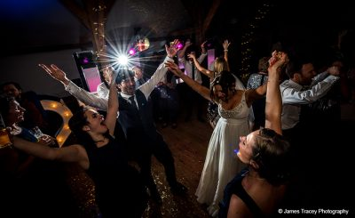Enjoy music and dancing at this wedding reception barn venue