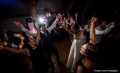 Enjoy music and dancing at this wedding reception barn venue