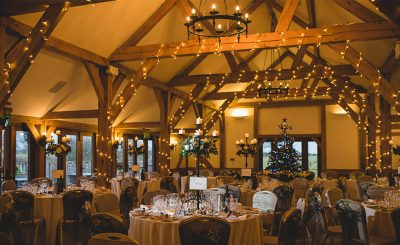 Celebrate your stunning winter wedding at Sandhole Oak Barn one of the finest wedding venues in Cheshire