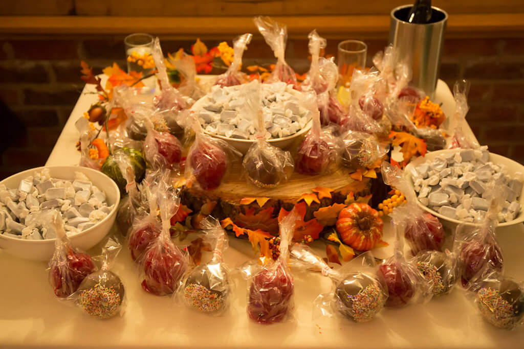 toffee apples autumn wedding sandhole oak barn wedding venues cheshire