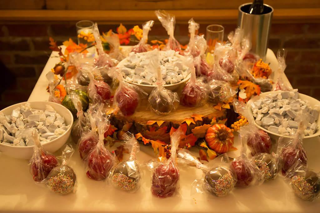 toffee apples autumn wedding sandhole oak barn wedding venues cheshire