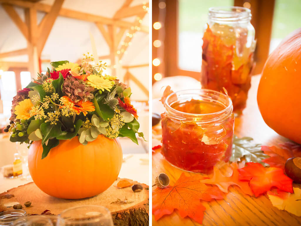 wedding decorations pumpkins sandhole oak barn wedding venues cheshire