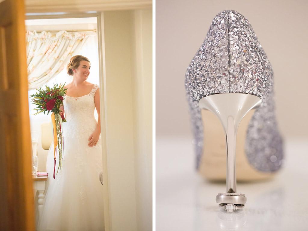 wedding dress wedding shoes sandhole oak barn wedding venues cheshire