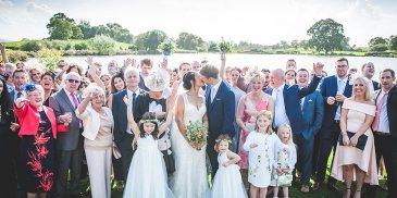 Ashleigh and James' real life wedding at Sandhole Oak Barn