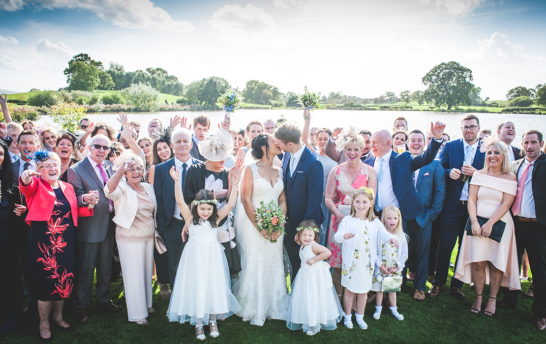 Ashleigh and James' real life wedding at Sandhole Oak Barn
