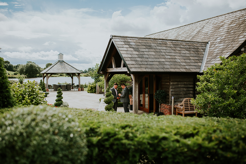 Kyle and Emily celebrated their wedding day at Sandhole Oak Barn wedding venue in Cheshire