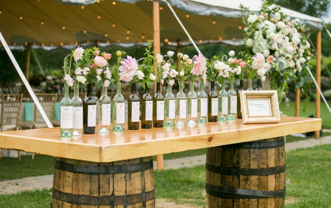 Creative Wedding Table Plan Ideas at Sandhole Oak Barn