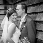 Emma and Andrew's real life wedding at Sandhole Oak Barn