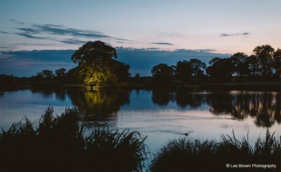 The lake at Sandhole Oak Barn is perfect for those dramatic evening shots at your barn wedding in the North West