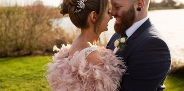 Kimberley and Thomas' Winter Sunshine wedding at Sandhole