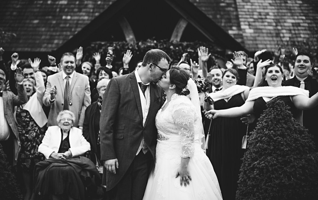 Rachael and matthew's real life wedding at Sandhole Oak Barn