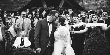 Rachael and matthew's real life wedding at Sandhole Oak Barn