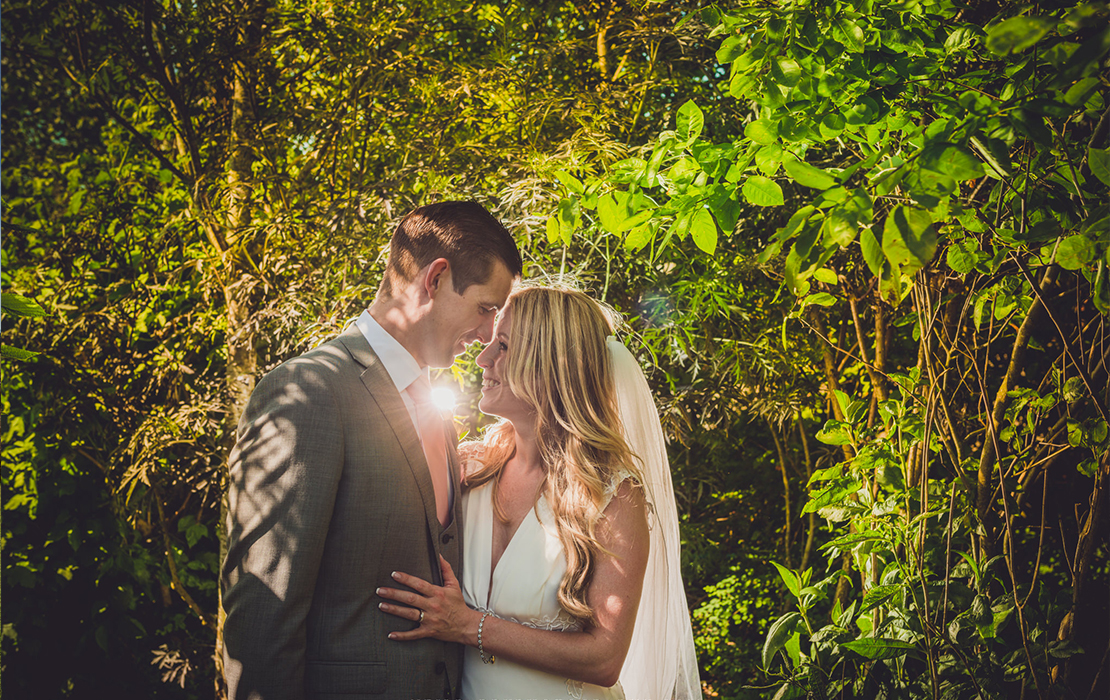 Verity and Sam's real life wedding at Sandhole Oak Barn